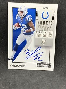 Nyheim Hines 2018 Contenders Rookie Ticket Auto On Card SP Colts