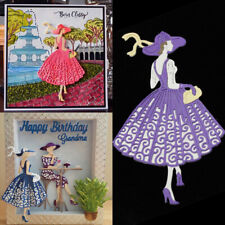 Fashion Lady Cutting Dies Stencil Scrapbooking Embossing Card Paper Craft DIY