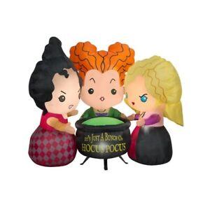 New Disney Hocus Pocus Sanderson Sisters Halloween Inflatable Lights up - 4.5FT