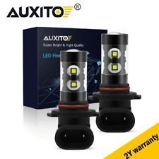 2x H10 9145 9005 6000K Pure White 100W Cree LED Headlight Bulbs Kit Fog Light
