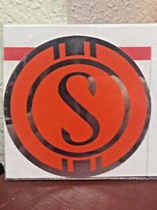 "Schwinn Bicycle, Sticker, SCHWINN QUALITY, 3"" , ORANGE & CHROME"