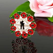 Womens Poppy Day Badges Pin Lapel Enamel Crystal Brooch 2019 Collection Red