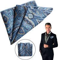Men Satin Solid Floral Pocket Square Handkerchief  Paisley Party Floral Hanky