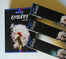 A SET 12 PC X 20 GM~ ORIGINAL~ SATYA EKANSH Agarbatti Incense Sticks FREE SHIP!
