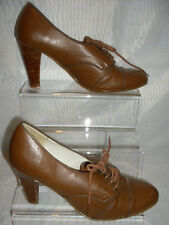 WOMENS Dorothy Perkins Brown Lace Up Synthetic High Heel Shoes Size:3/36(WHS90)