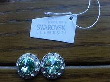 Genuine Swarovski Elements 13mm Green Chrysolite Crystal Stud Earrings - £20!