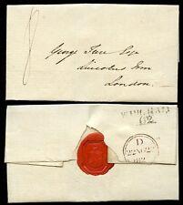Gb 1823 wingham Kent + Sello Rojo Escudo De Armas 8d