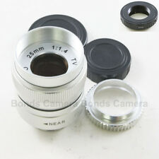 25mm f/1.4 C Mount CCTV Lens for Pentax Q interchangeable lens camera silver