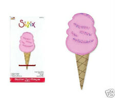 Sizzix  Sizzlits COTTON CANDY 655612 New ICE CREAM CONE