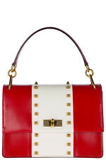 BALLY WOMEN'S LEATHER HANDBAG SHOPPING BAG PURSE NEW MOXIE RED 18F
