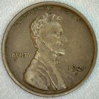 1921 S Lincoln Wheat Cent Coin One Cent Penny US Coin VF Very Fine 1c US K73