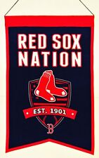 Boston Red Sox Wool Nation Banner [NEW] MLB Sign Wall Man Cave Flag