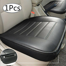 Universal PU Leather Deluxe Car Seat Cover Protector Cushion Black Front Cover