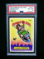 GARBAGE PAIL KIDS - 1986 4th Series #151a Losing Faith - OS4 -Graded PSA 8 NM/MT