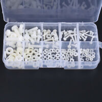 Nylon Plastic Bolt and Nut Assortment M2 M2.5 M3 M4 M5 Fastener Screws Washers