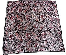 Echo Club 7 Very Beautiful Colorful Paisley Design 100% Luxurious Silk Scarf !