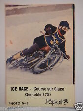 CARTE PUBLICITAIRE 1960 - 1970 - PHOTO YOPLAIT N°9 - ICE RACE COURSE SUR GLACE