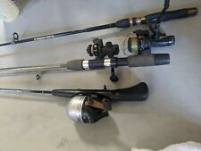 Light Action Rod Lot Of 3 W Spin Reel E-z Cast Shimano Zebco LOOK Light Action