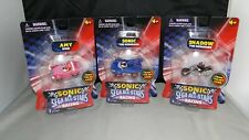 "Sonic The Hedgehog Sega All-Stars Racing Figures 1.5"" Figure Vehicle Shadow Amy"