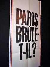 jean-paul belmondo PARIS BRULE-T-IL  ! delon affiche cinema promo pantalon