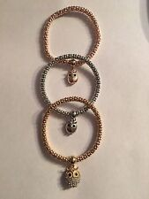 Fashion 3Pcs Gold Silver Rose Gold Bracelets Set (OWLS ) Rhinestone Bangle-B519
