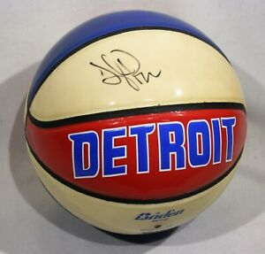 Tayshaun Prince Autographed Detroit Pistons Basketball from circa 2004