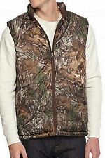 REALTREE CAMO REVERSIBLE MEN'S MICROFIBER PUFFER VEST ZIP FRONT WITH POCKETS NEW