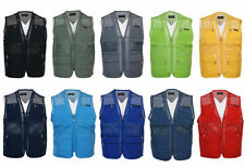 Polyester Patternless Big & Tall Waistcoats for Men