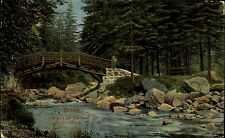 ~1920 Okertal Oker Romkerhalle Posthilfsstelle Brücke zur Okerinsel alte AK