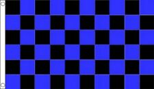 Royal Blue & Black Chequered Flag - Large 5 x 3 FT - Checkered Racing Football