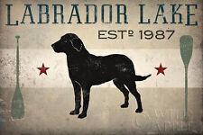 Labrador Lake Ryan Fowler Black Lab Dog Pets Animals Print Poster 24x36