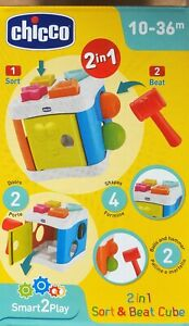 Chicco 2 n 1 Beat Cube Baby toddler sort and beat cube 10 months +