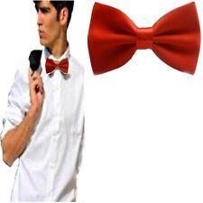 Papillon da uomo donna rosso cravattino farfallino regolabile con clip in raso