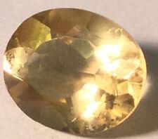 Beautiful Rare 4.37 Carats Oval Cut Yellow Sapphire Gemstone AG89