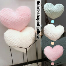 Love Heart Shape Plush Cushion 35cm Stuffed Fleece Pillow Sofa Home Decor Gift