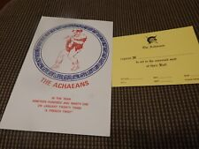 Krewe Of ACHAEANS 1991 Ball Program invitation Mardi Gras New Orleans