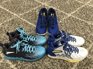 Three Pairs Team Issued Golden State Warriors Shoes, Anta, Under Armour, NBA