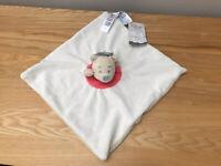 Disney Baby Primark Winnie The Pooh Cream Red Comforter Cream Blanket Blankie