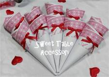 20 coni per confettata compleanno sweet table matrimonio comunione battesimo