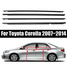 4 Pcs Weatherstrip Window Moulding Trim Seal Belt For Toyota Corolla