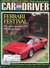 Car and Driver Magazine September 1984 Ferrari Festival VGEX 122915jhe2