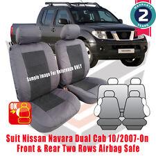 NISSAN Navara Dual Cab D40 ST-X Custom Fit Seat Cover 09/2007-05/2015 Airbag
