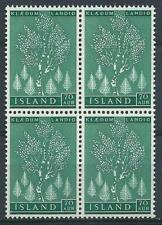 Iceland 1957 Sc# 307 Birch tree block 4 MNH