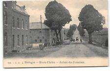 Belgium-Bastogne-Route d'Arlon-Arrivee des 2 courses-Antique Postcard