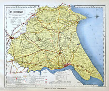 Railways Hand Coloured Yorkshire East Riding Antique County Map Moule C1840 Easy To Use