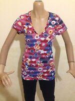 MAGLIA HILFIGER DENIM TAGLIA size  L DONNA maglietta t-shirt woman cotone P 1855