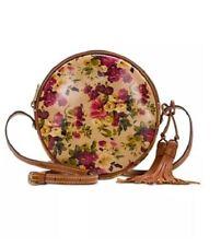 Women's NWT Patricia Nash Antique Floral Rose Scafati Leather Crossbody Purse