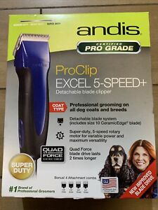Andis Excel Pro-Animal 5-Speed Detachable Blade Clipper -Professional Animal/Dog