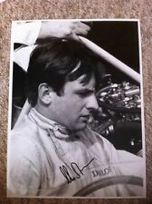 Chris Amon Early 1960's F1 Portrait Signed Photograph **Large 16 x 12**