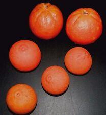 Fake Oranges & Tangerines Food Fruit Home Decor Staging Props 6 Pieces Vintage